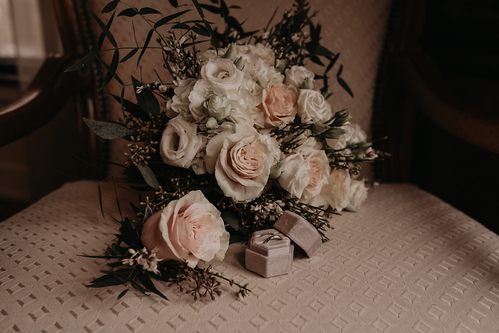 Classic rose bride bouquet. Photographed by Nicole Leanne Photography