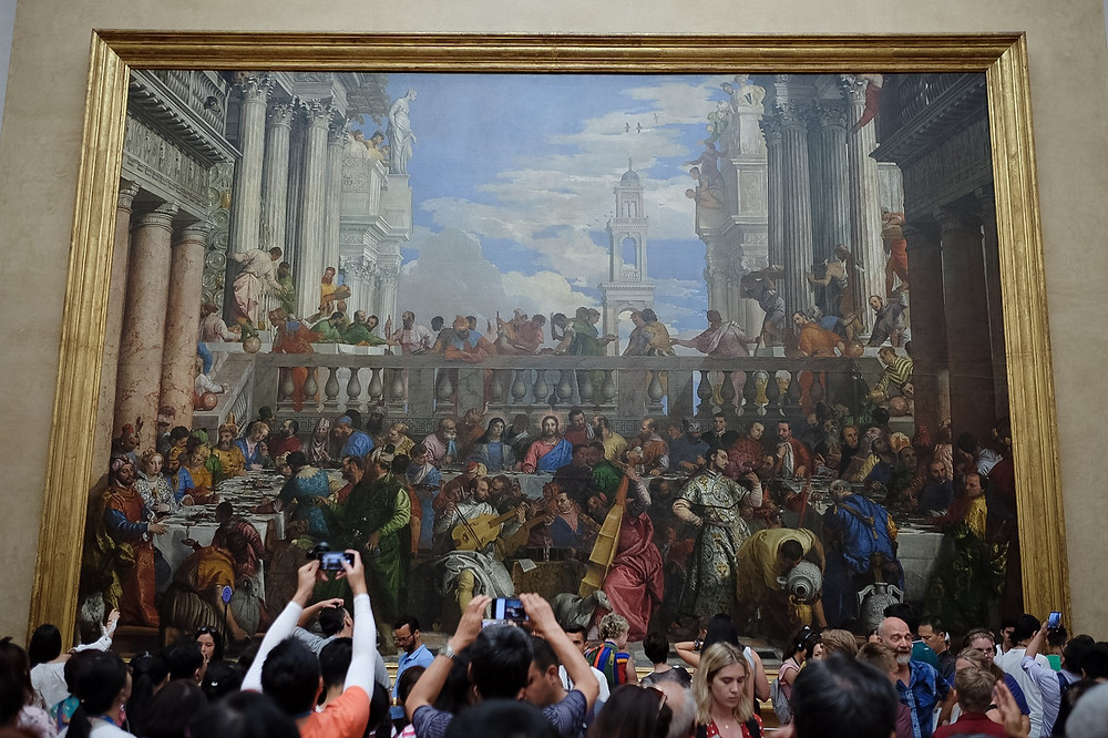 louvre museum, photographing paintings