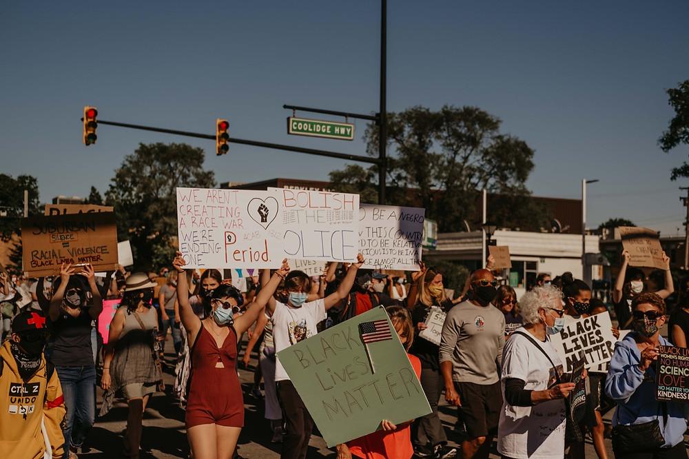 Black Lives Matter movement support in Berkley Michigan