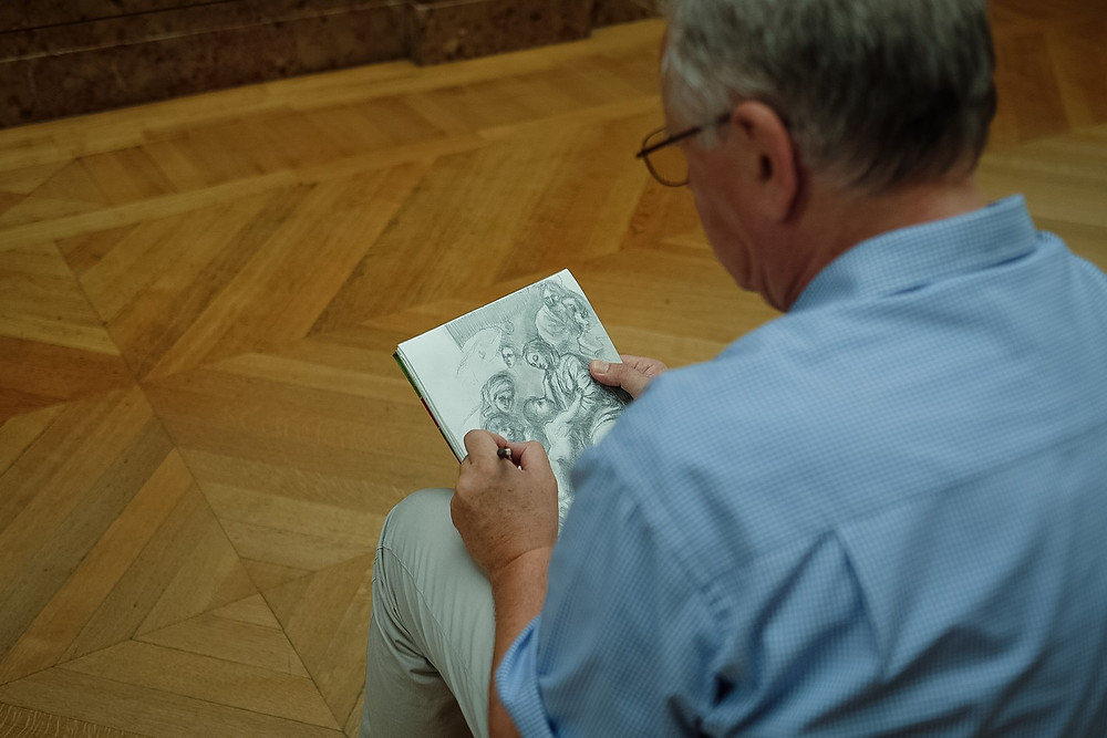 sketching at the louvre