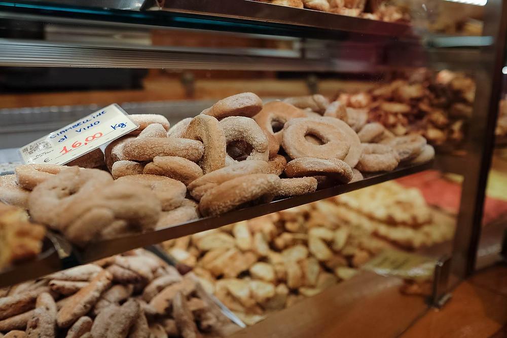 donuts at Forno Campo de Fiori