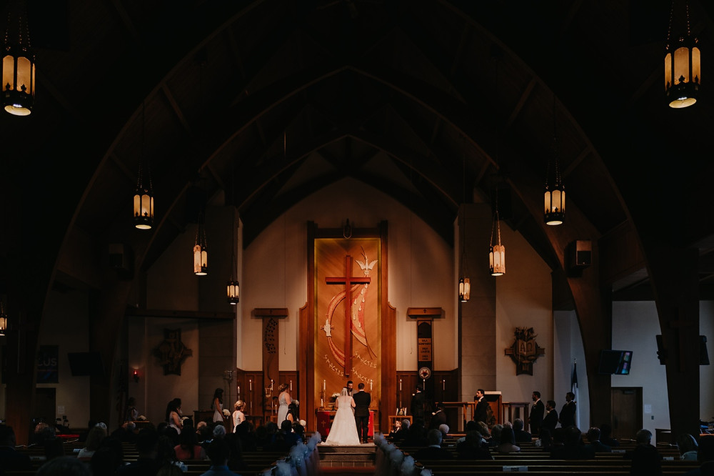 Trinity Lutheran church wedding in Metro Detroit. Photographed by Nicole Leanne Photography.