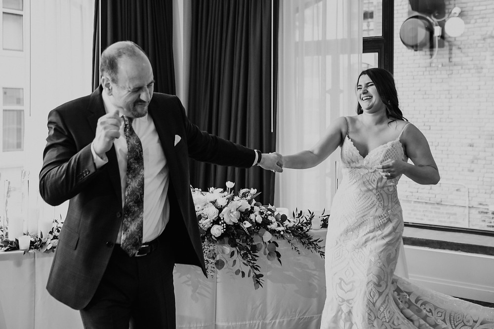 Bride and father dance at Downtown Detroit wedding
