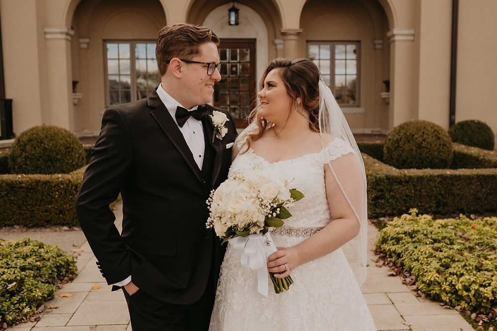 Bride and groom on metro Detroit wedding day. Photographed by Nicole Leanne Photography.