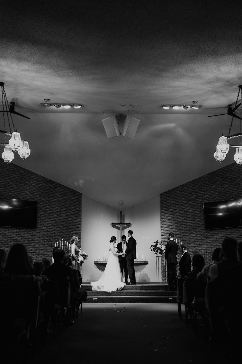Trinity Presbyterian Church in Plymouth wedding ceremony. Photographed by Nicole Leanne Photography.