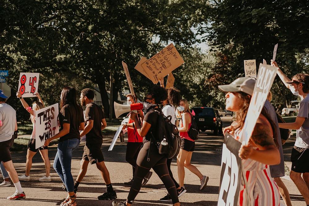 Black Lives Matter movement walks through Berkley Michigan