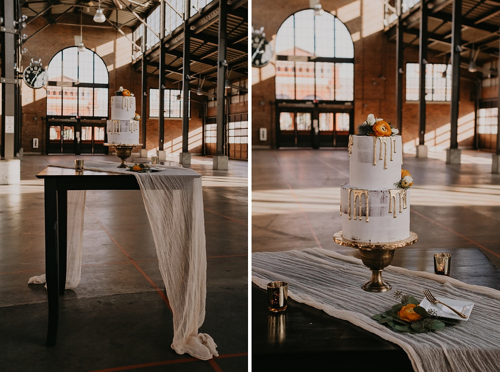 Cake at Eastern Market by A-Mazion Cakes in Metro Detroit. Photographed by Nicole Leanne Photography.