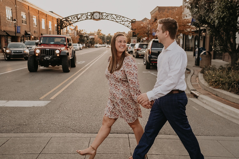 Metro Detroit downtown engagement photos. Photographed by Nicole Leanne Photography.