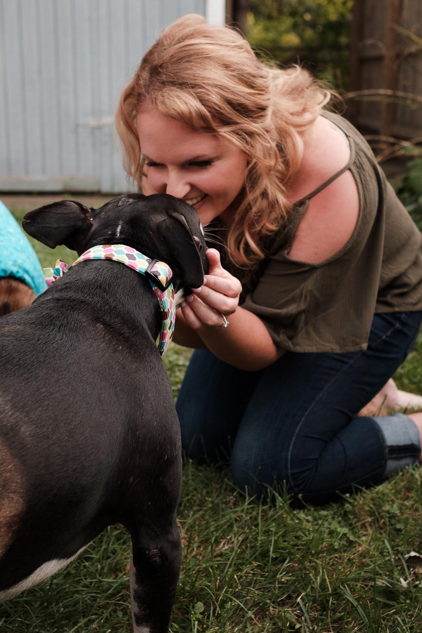 rescued dog, engagement session