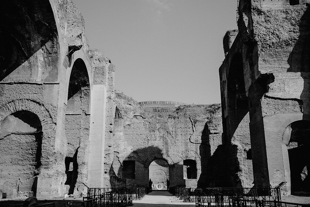 Baths of Caracalla, empty attraction