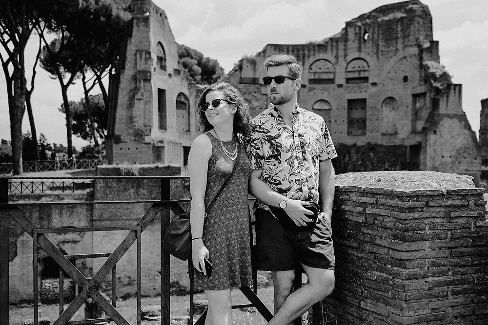 Roman Forum and Palatine Hill, posing for portrait