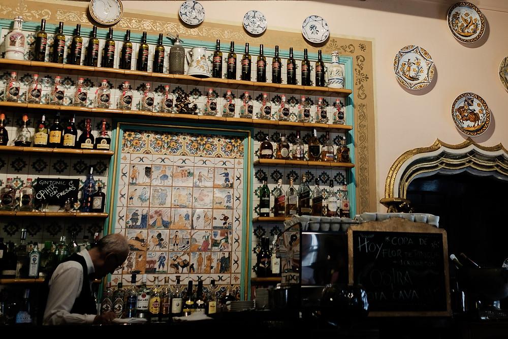 bar at Quatre Gats café