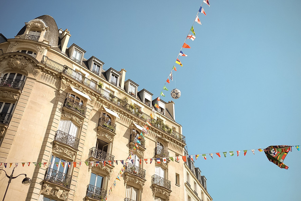 world cup, paris, france, flags