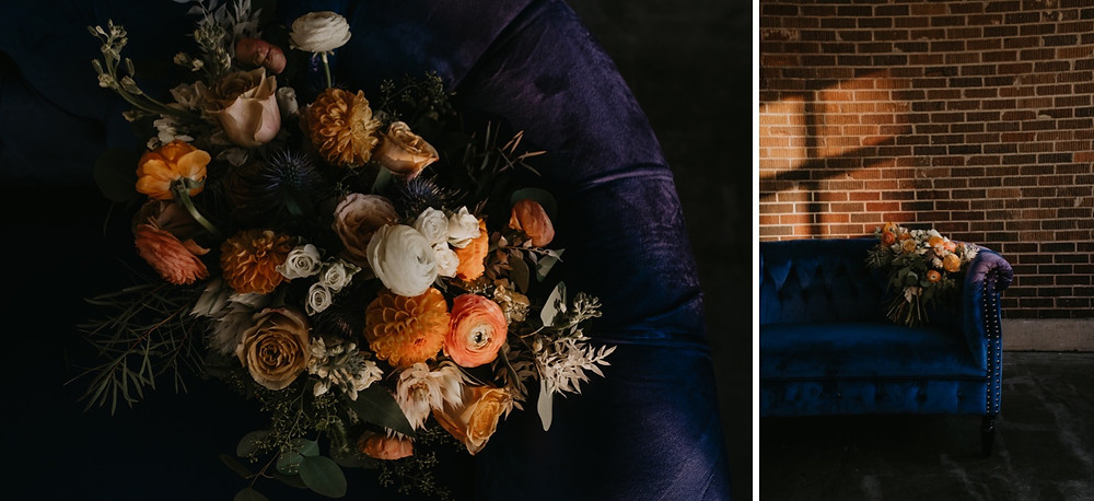 Fall inspired wedding bouquet photographed by Nicole Leanne Photography