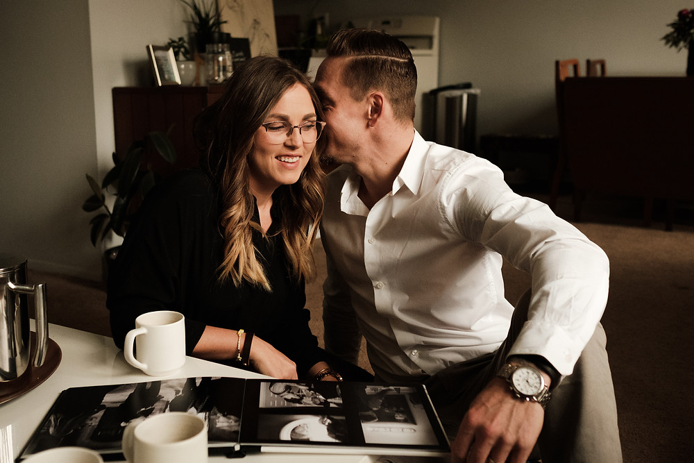 Couple's photo session at home. Photographed by Nicole Leanne Photography.