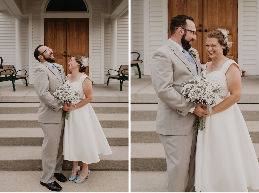 Metro Detroit historical village wedding. Photographed by Nicole Leanne Photography.