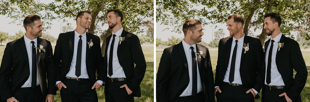 Groom with groomsmen at wedding. Photographed by Nicole Leanne Photography.