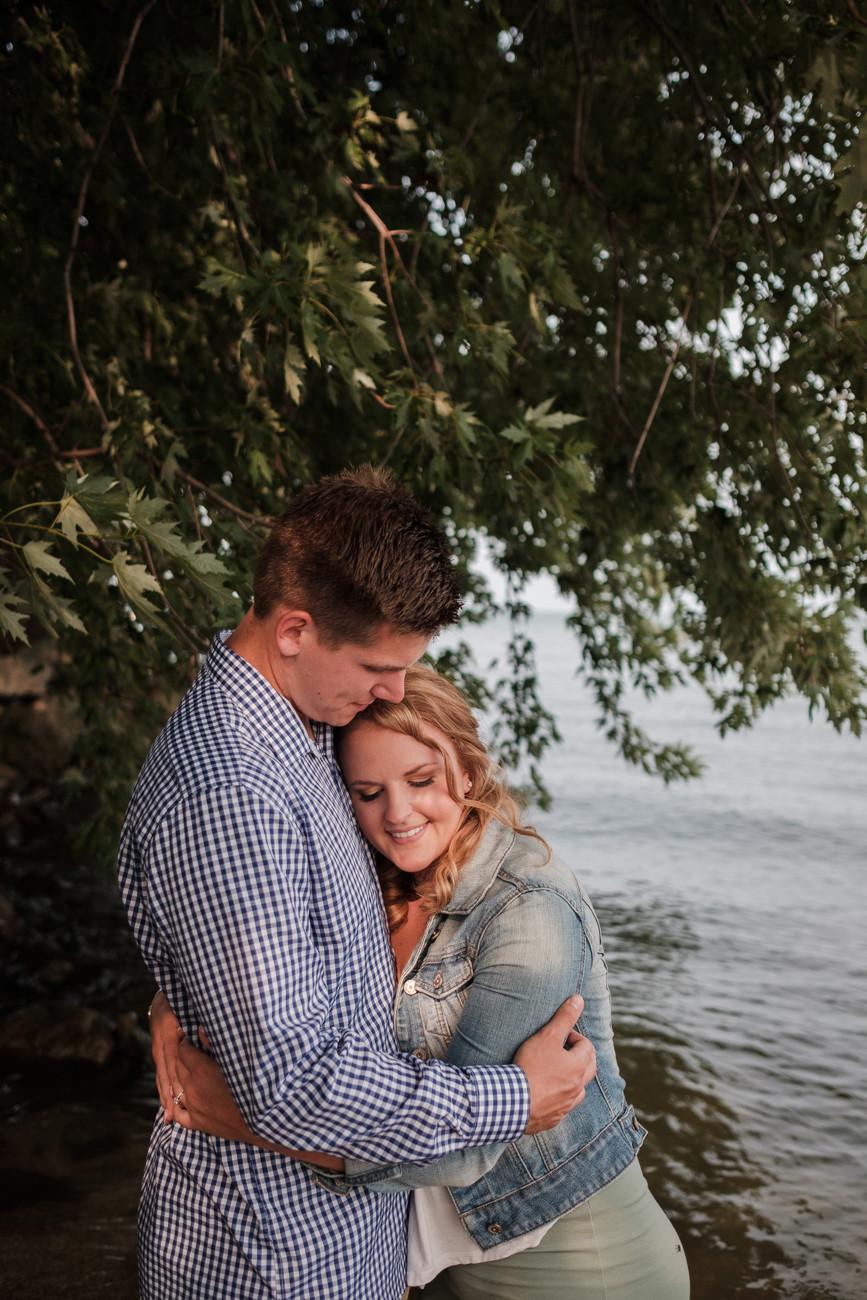 engagement session, st. claire shores michigan