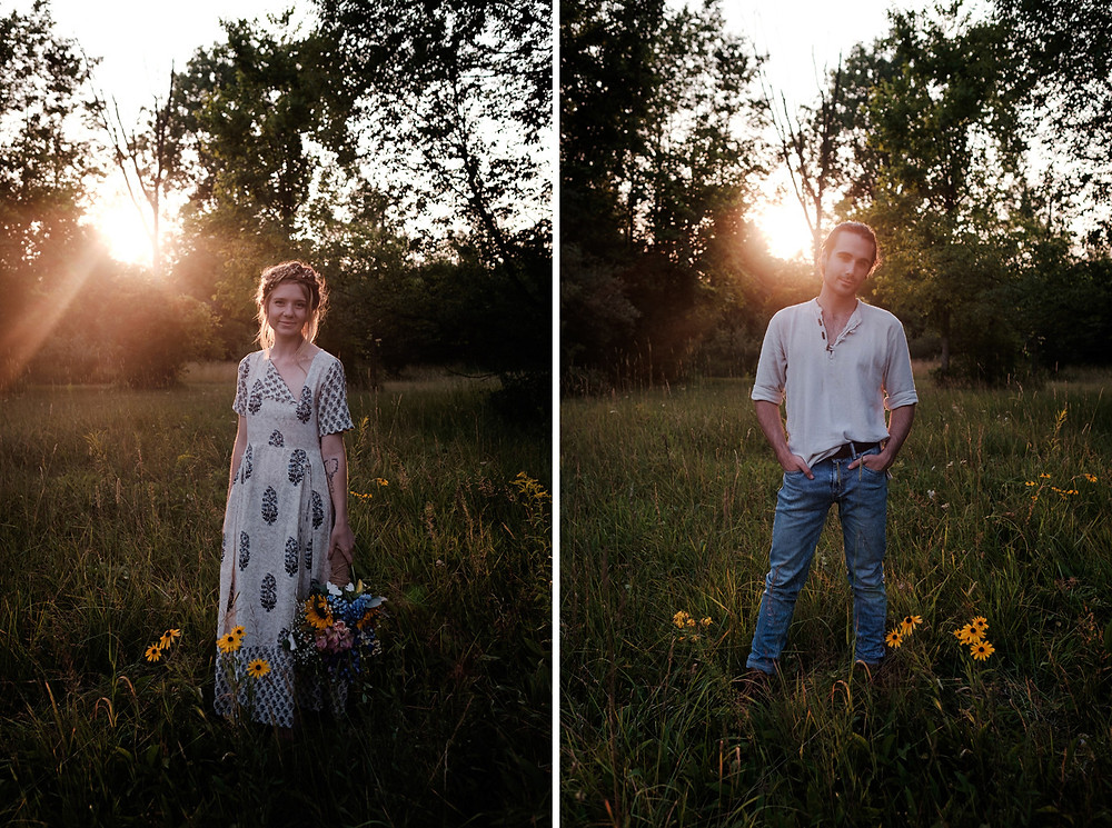 sunset portraits, bohemian