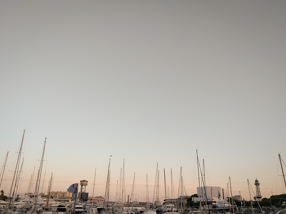 Boats at a Barcelona marina. Photographed by Nicole Leanne Photography.