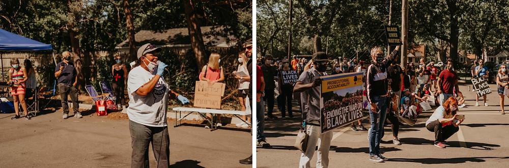 Berkley Michigan protest for the BLM movement