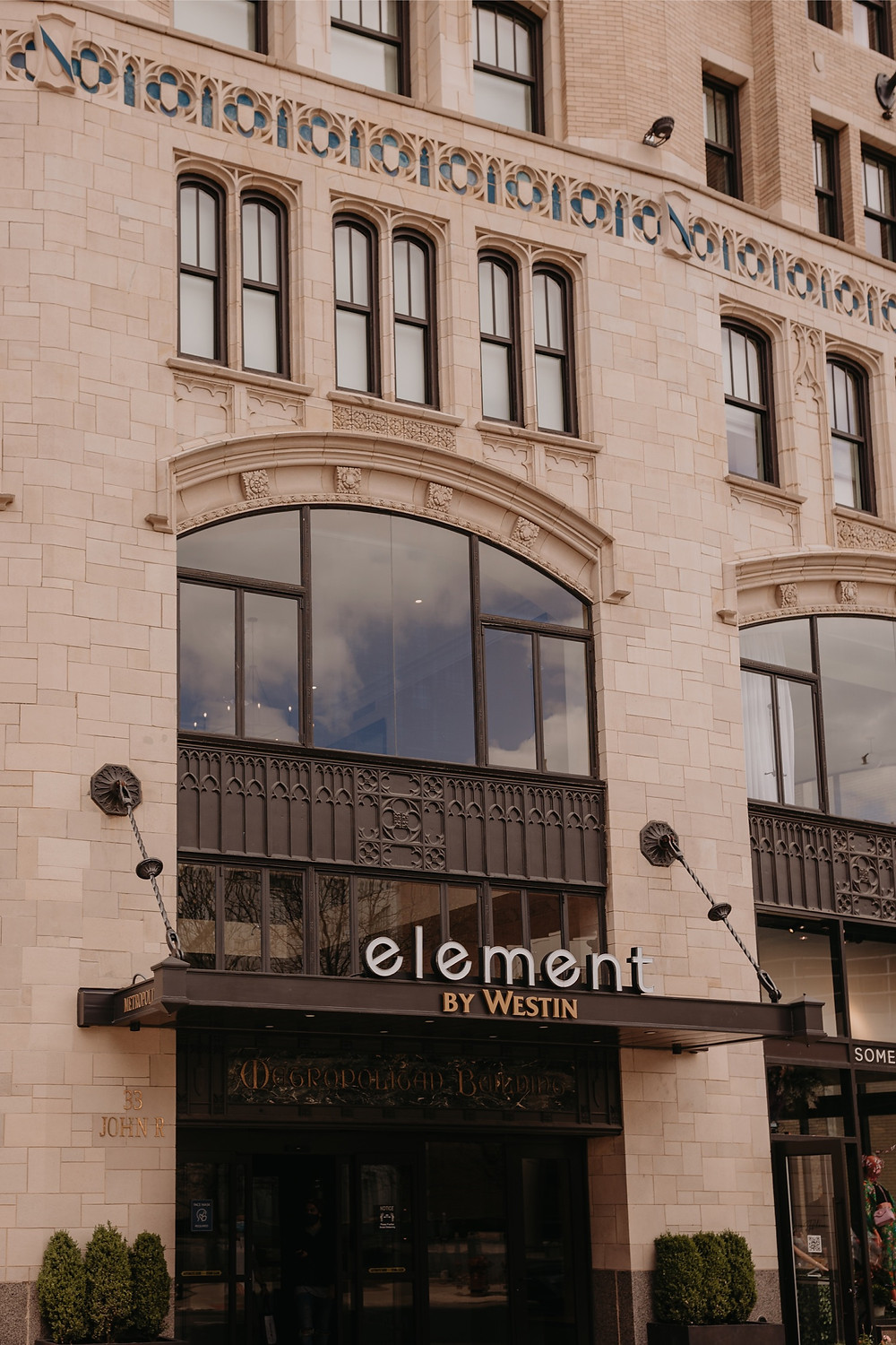 Element Detroit by Westin Hotel in The Metropolitan Building Detroit Michigan.
