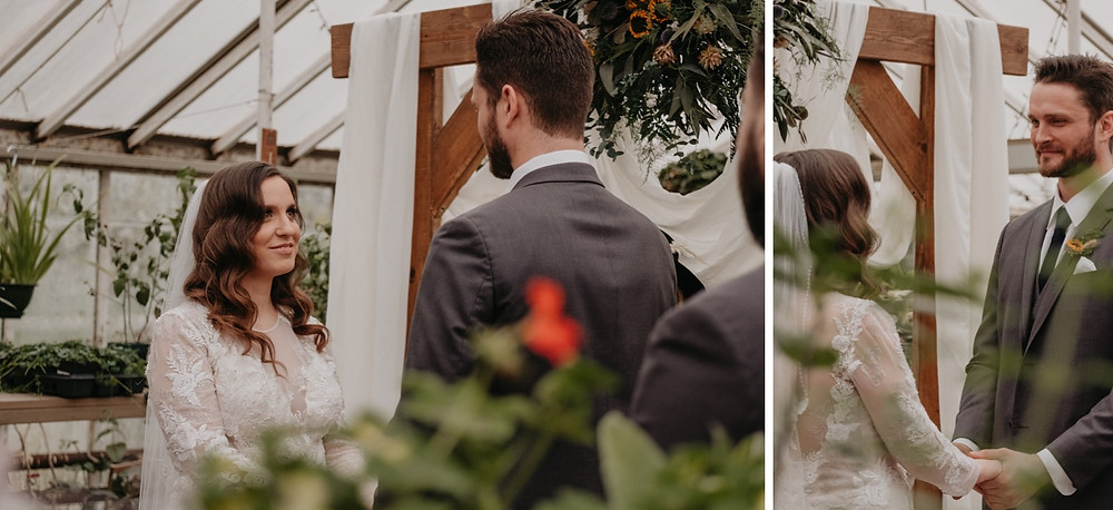 Lifestyle documentary wedding photos of greenhouse wedding. Photographed by Nicole Leanne Photography.