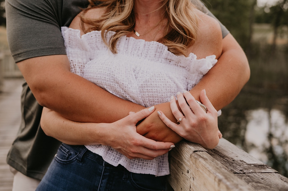 Lifestyle engagement session in Metro Detroit. Photographed by Nicole Leanne Photography