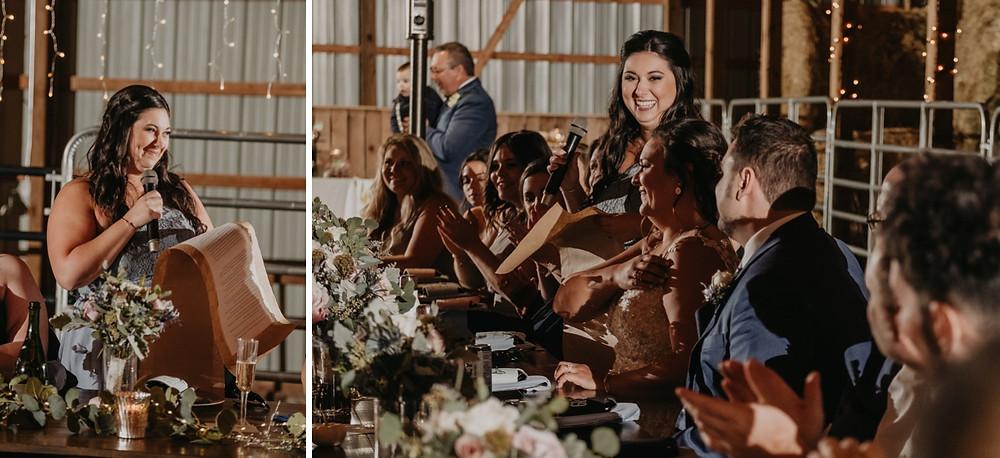 Metro Detroit fall barn wedding