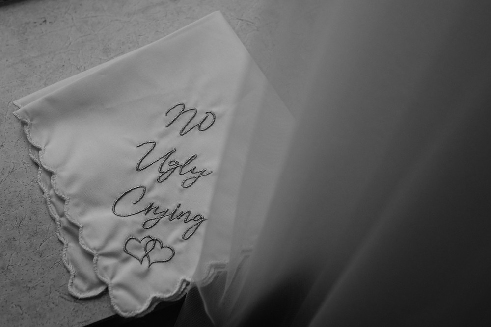 No ugly crying handkerchief. Photographed by Nicole Leanne Photography.
