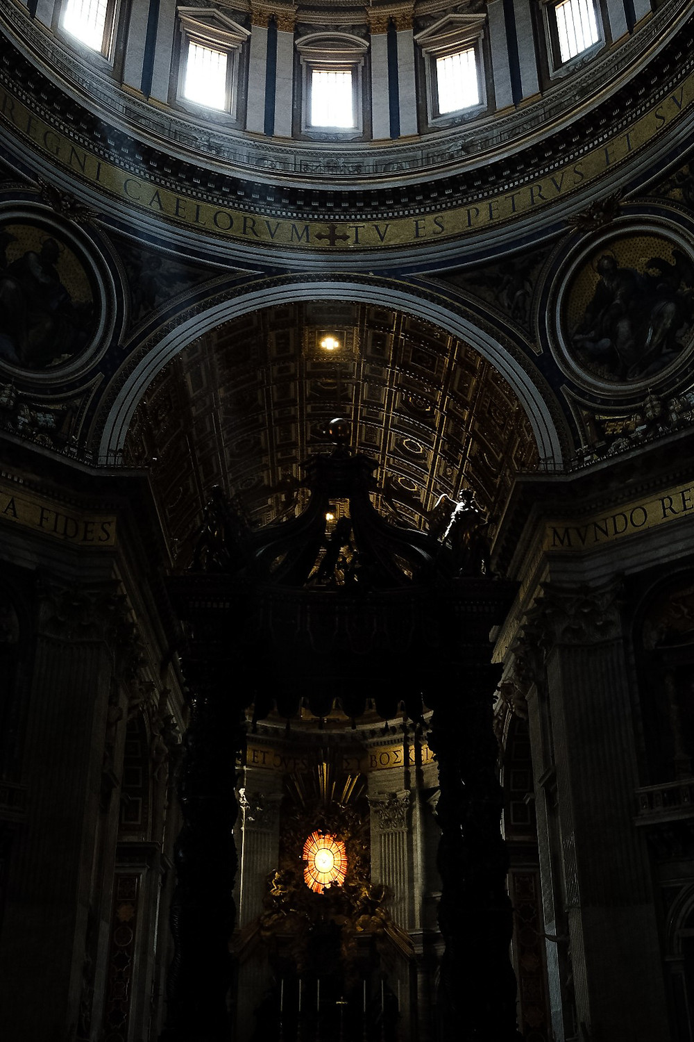 sunbeams in the dome of Saint Peter's Basilica