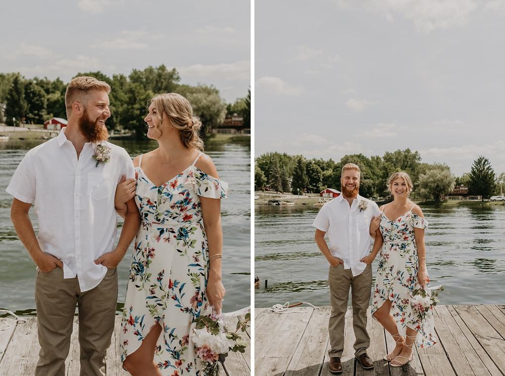 Metro Detroit lakeside wedding photos. Photographed by Nicole Leanne Photography.