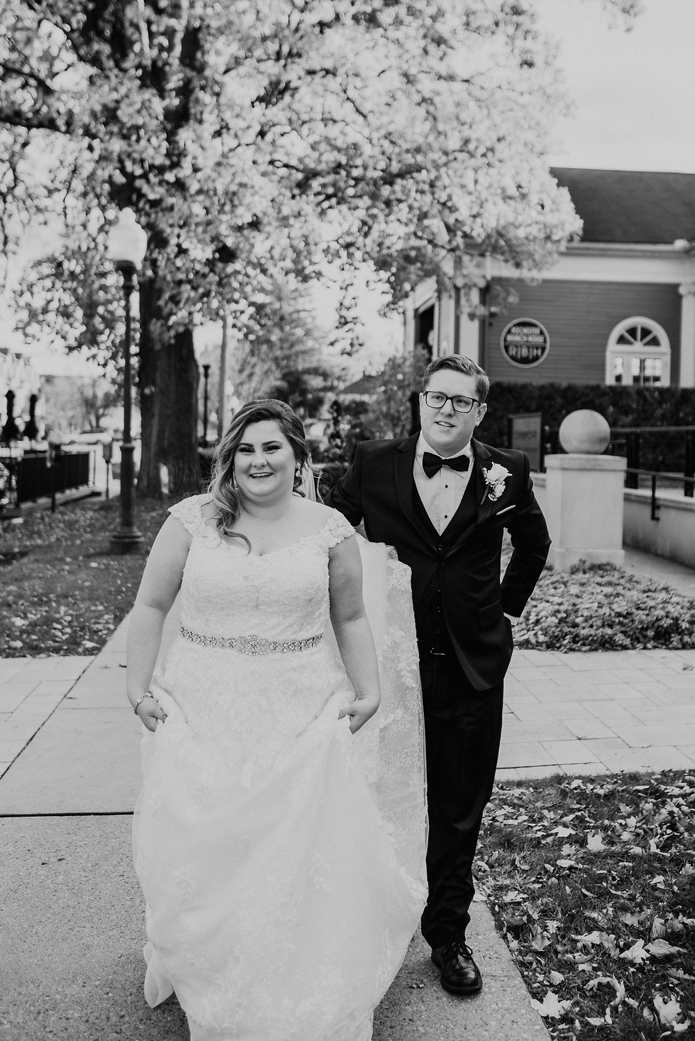 Downtown Rochester wedding photos. Photographed by Nicole Leanne Photography.