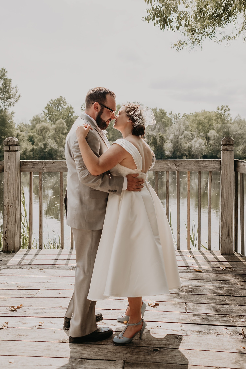 Couple sharing first dance as married couple. Photographed by Nicole Leanne Photography.