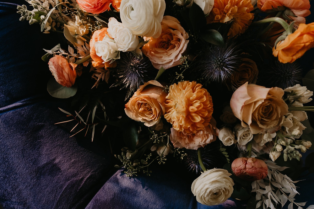 Wedding florals by Copper and Sage Collective. Photographed by Nicole Leanne Photography.