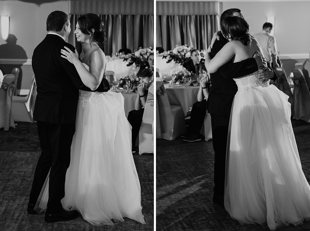 Wedding dance with father of the bride. Photographed by Nicole Leanne Photography.