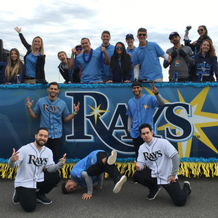 Gasparilla Parade - Bay Breaks and Tampa Bay Rays