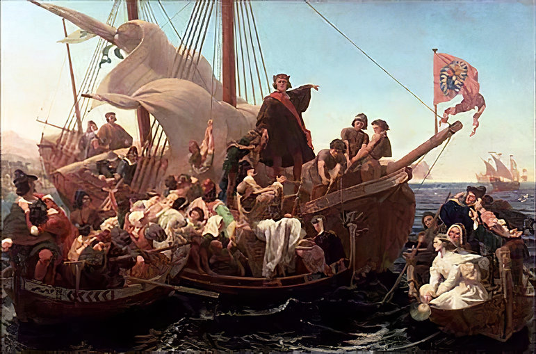 Christopher_Columbus_on_Santa_Maria_in_1