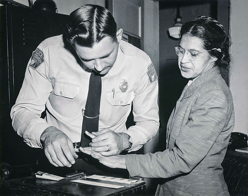 Rosa_Parks_being_fingerprinted_by_Deputy