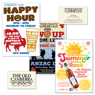 Old Canberra Inn logo and posters