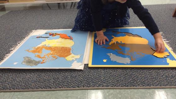Montessori Monday: The Continent Maps