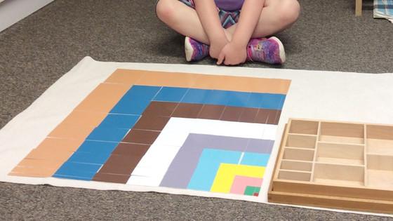 Montessori Monday: The Square of the Decanomial