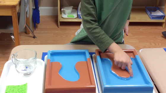 Montessori Monday: The Land and Water Forms