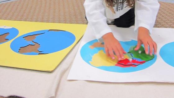 Montessori Monday: The Continent Map