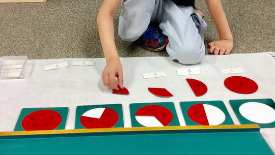Montessori Monday: The Fraction Insets