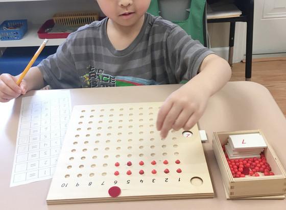 Montessori Monday: The Multiplication Bead Boards