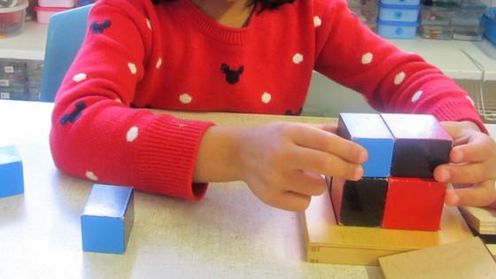 Montessori Monday: The Binomial Cube