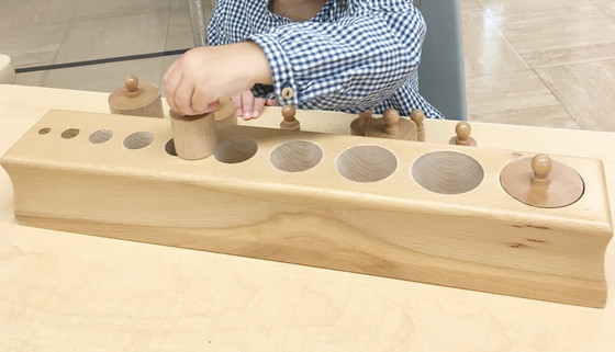 Montessori Monday: The Knobbed Cylinders