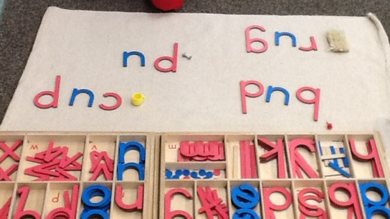 Montessori Monday: Word Building with the Large Moveable Alphabet