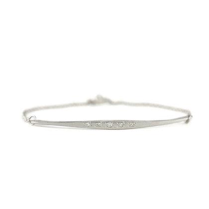 Forged Diamond Toggle Bracelet